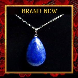 Lapis Lazuli Gemstone Pendant Necklace #158